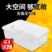 烏龜缸髮帶曬台小養龜盆龜缸塑膠水陸缸家用養烏龜的專用缸龜箱T