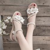 仙女風涼鞋女學生夏季新款女鞋軟妹配裙子的沙灘鞋平底羅馬鞋 秋季新品