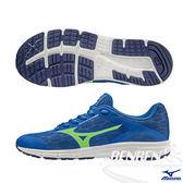 MIZUNO美津濃 Synchro Jr. 兼具運動休閒鞋款 大童鞋(藍*綠)
