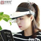 頭戴式放大鏡LED帶燈老人閱讀兒童學生學習高 麥琪精品屋