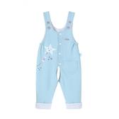 男女嬰兒背帶褲可開襠雙層針織6-12個月