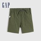 Gap男幼童 工裝風運動直筒短褲 759207-軍綠色