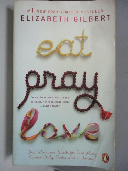 【書寶二手書T5/原文小說_ASD】Eat, Pray, Love_ELIZABETH GILBERT