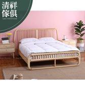 【新竹清祥傢俱】NBB-01BB05-北歐梣木雙人床架 五呎 無印 民宿 臥房 造型 原木 時尚 簡約
