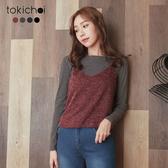 東京著衣-tokichoi-百搭多色兩件式條紋搭配針織上衣-S.M(172490)