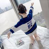萬聖節狂歡   女童秋季大學T長袖2018新款秋裝韓版兒童裝春秋寬鬆洋氣外套潮上衣