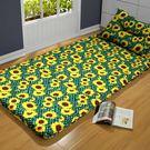 床墊  太陽花深綠 冬夏透氣床墊 單人 3尺 +送記憶枕乙顆 K-OTAS