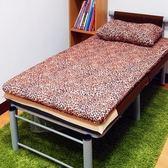 【KOTAS】冬夏透氣床墊-單人 一入(送 記憶枕)-花豹紋