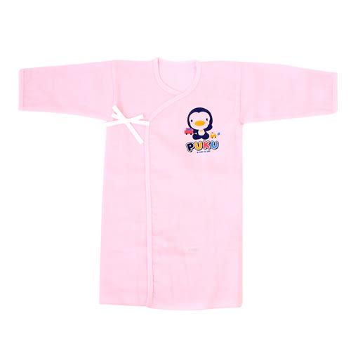 【奇買親子購物網】PUKU 反袖口紗布長肚衣(藍/粉)