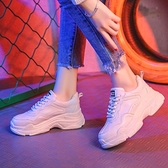 增高鞋運動鞋女鞋春款百搭小白網紅增高老爹ins潮鞋子 俏俏家居