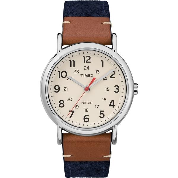 【TIMEX】天美時經典復刻冷光Weekender系列手錶(米白/藍 TXTW2R42000)