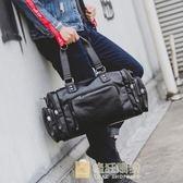 男士青年背包簡約戶外包旅游手提包大容量旅行包運動背包一件免運
