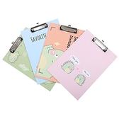 創意紙質恐龍圖案A4文件夾/書寫板(1入) 顏色隨機出貨【小三美日】