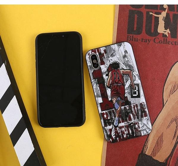🍏 iPhone11ProMax 蘋果手機殼 預購 [可掛繩] 灌籃高手背景漫畫 浮雕軟殼 i8/i7/i6/i5