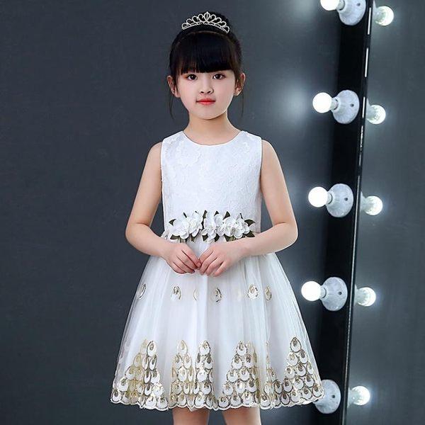 女童禮服 花童婚紗禮服兒童公主裙寶寶背心裙寶寶LJ10233『黑色妹妹』