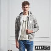 【JEEP】普普迷彩刷毛連帽外套 (灰)