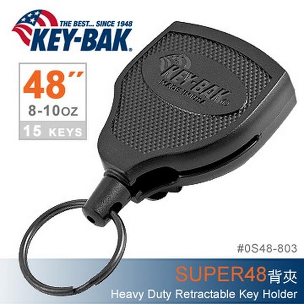 """美國KEY BAK SUPER48 Heavy Duty 48""""伸縮鑰匙圈(背夾款) (公司貨)#0S48-803"""