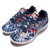 【四折特賣】Nike 慢跑鞋 Wmns Lunartempo 2 2 RF E Jungle Pack 藍紅白 女鞋【PUMP306】 849815-600