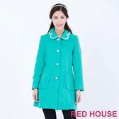 RED HOUSE-蕾赫斯-精緻波浪珍珠長版大衣(共2色)