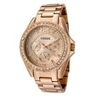FOSSIL 浮華吸睛復古玫瑰金不鏽鋼腕錶(ES2811)-玫金x38mm