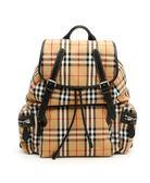 ■專櫃77折■2019新品■ 全新真品Burberry The Rucksack Vintage 格紋皮革中型軍旅背包