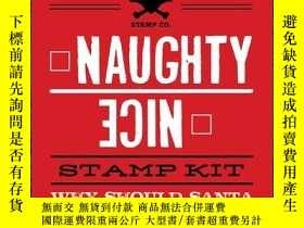 二手書博民逛書店Naughty罕見or Nice Stamp KitY410016 Dare You Stamp Co...