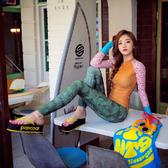 潛水服韓國分體潛水服女長袖長褲防曬速干泳衣沖浪浮潛服顯瘦水母衣泳裝雙12狂歡