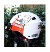 史奴比安全帽,雪帽,K825,史#5/白,附抗UV-PC安全鏡片
