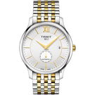 TISSOT天梭 Tradition 小秒針機械錶-銀x雙色/40mm T0634282203800