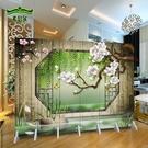 屏風隔斷簡約現代客廳可折疊移動活動牆經濟型省空間布藝簡易 【快速出貨】