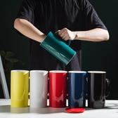 馬克杯北歐大容量馬克杯水杯大號瓷杯超大帶蓋勺1000ml大杯子家用陶瓷杯