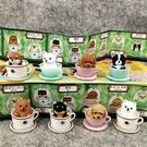 新款咖啡杯小狗狗公仔茶杯犬黑虎擺件柴犬杯蛋糕桌面裝飾玩具盲盒