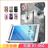 Acer 宏碁 Iconia One 8 B1-850 B1-860 B1- 870 平板皮套 新款皮套 超薄 b1-860 保護套 支架 三折彩繪 保護殼