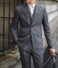 找到自己品牌 韓國男 英倫迷彩拼接 三件式西裝外套 成套西裝 修身西裝 西裝外套 外套+背心+褲子