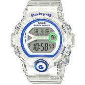 CASIO 卡西歐 Baby-G 繽紛慢跑手錶-透明 BG-6903-7DDR / BG-6903-7D