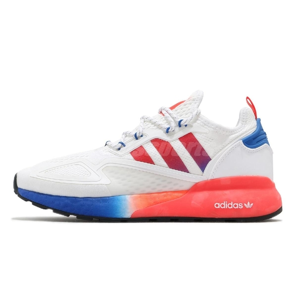 adidas 休閒鞋 ZX 2K Boost 白 紅 藍 男鞋 三葉草 運動鞋 【ACS】 FV9996