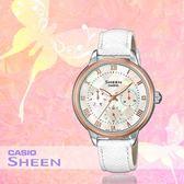 CASIO 手錶專賣店 CASIO_SHE-3057PGL-7A_時尚三眼女錶_全新品