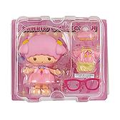 Sanrio 換裝娃娃組 擺飾玩偶 公仔 雙子星 LALA 睡衣 粉_261408