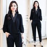 2019年秋裝新款女套裝韓版洋氣減齡氣質寬鬆休閒小清新兩件套 YN2107『寶貝兒童裝』