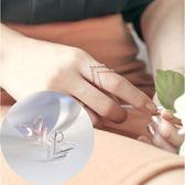 簡約百搭指環韓版女開口戒飾品時尚女士V型戒指食指 zm1339【每日三C】