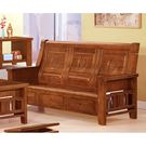 【森可家居】樟木全實木中式復古三人椅 8SB131-10 三人沙發 可收納