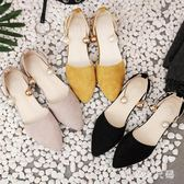 單鞋子新款百搭甜美乖乖單鞋女平底仙女涼鞋尖頭女鞋 QQ21243『MG大尺碼』