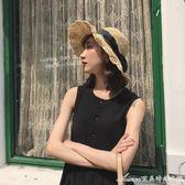帽子女夏天海邊度假草帽花邊仙女百搭沙灘遮陽帽ins大檐太陽帽艾美時尚衣櫥