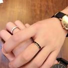 情侶戒指 時尚玫瑰金窄版 黑白陶瓷戒指 男女情侶指環對戒尾戒食指飾品