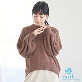 「Winter」蓬鬆毛絨圓領針織衫 - earth music&ecology