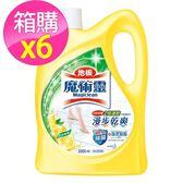 【魔術靈】地板清潔劑 鮮採檸檬(2000ml  x 6入)