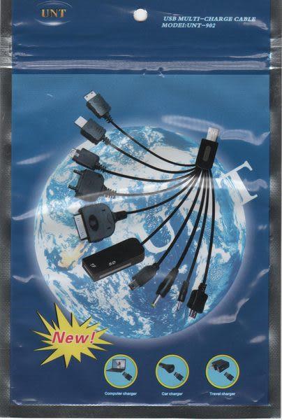【強尼 3c】手機USB十合一萬用充電傳輸線UNT-902讀卡器iPhone HTC PSP LG NOKIA三星