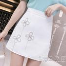 半身裙女2021夏季新款淑女設計感包臀裙氣質水鉆裝飾高腰顯瘦短裙 小時光生活館