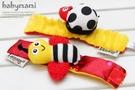 貝比幸福小舖【90099-01】美國LAMAZE---立體絨布蜜蜂飄蟲款/ 腕帶/ 腕鈴( 2個一組 )