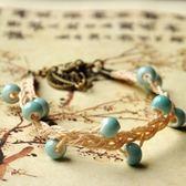 陶瓷手鍊-純色手工聖誕節生日禮物女串珠手環6色73gw55[時尚巴黎]